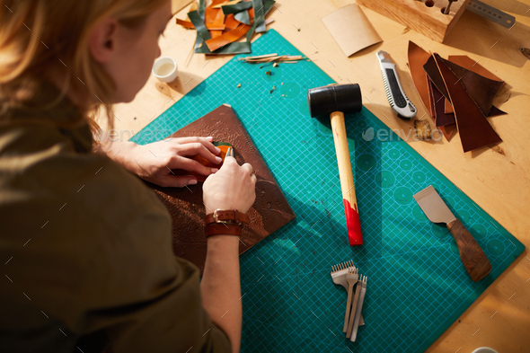 Leatherworker High angle - Stock Photo - Images