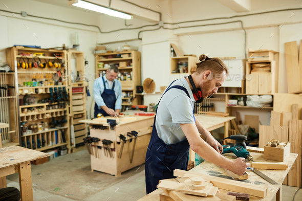 Carpenters in Joinery - Stock Photo - Images