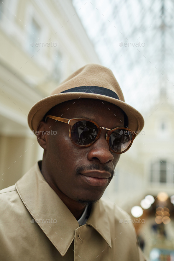 African Man Weaing Hat - Stock Photo - Images