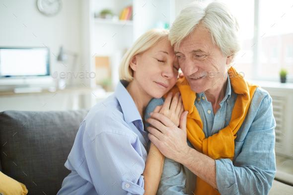 Tender Senior Couple in Love - Stock Photo - Images