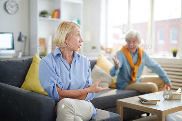 Mature Couple Arguing - Stock Photo - Images