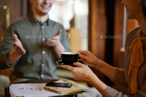 Having coffee - Stock Photo - Images