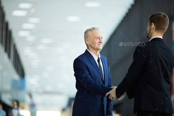 Business partners in Hall - Stock Photo - Images