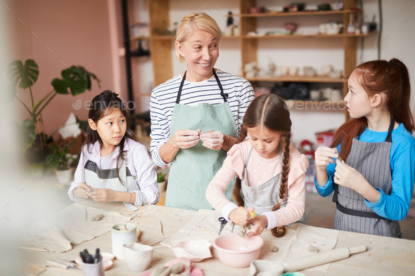 Pottery Class for Kids - Stock Photo - Images