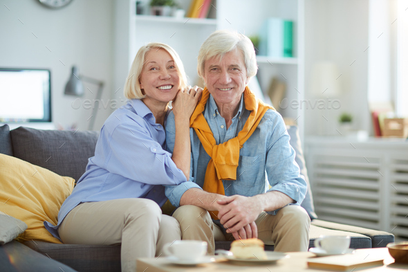 Contemporary Senior Couple Posing - Stock Photo - Images