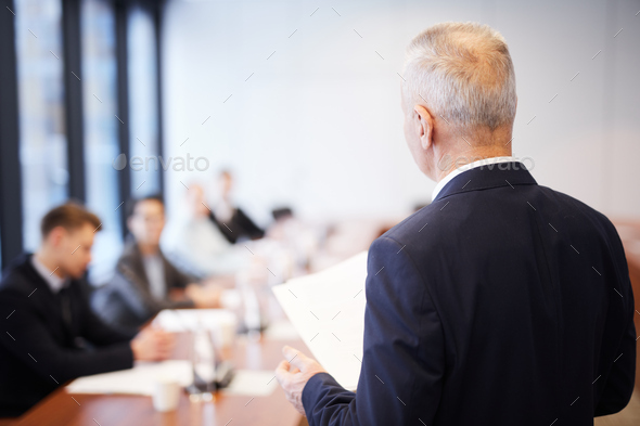 Mature Business Man in Meeting - Stock Photo - Images