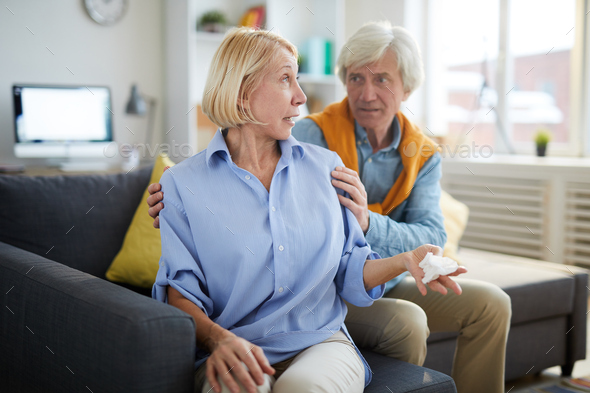 Mature Couple in Conflict - Stock Photo - Images