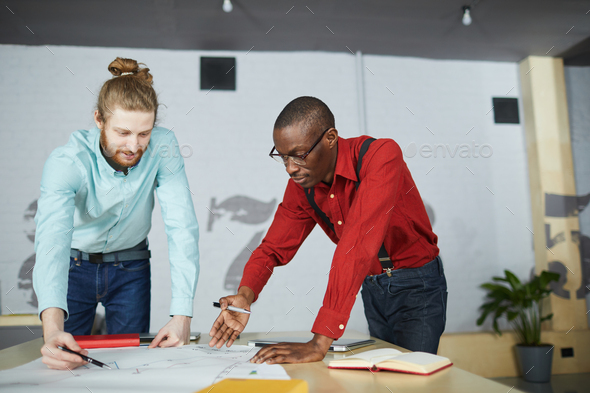 Two Entrepreneurs Planning Strategy - Stock Photo - Images