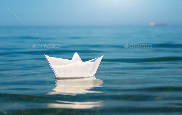 Paper toy ship - Stock Photo - Images
