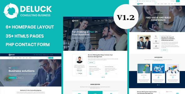 Deluck - Multipurpose Business Agency & Corporate Template by validthemes