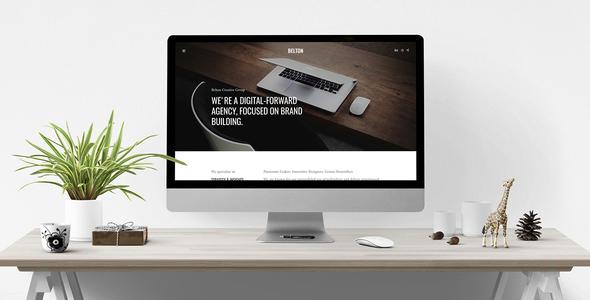 Special Belton – Minimal HTML5 Black and White Multipurpose Template