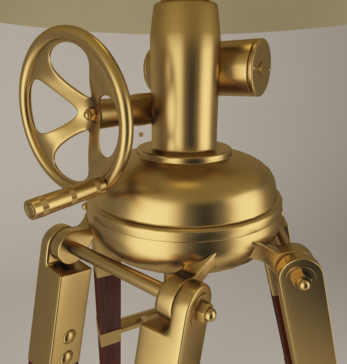 Royal Marine Tripod Lamp With Materials Amp Textures By