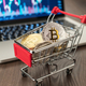 Shopping Trolley With Bitcoins And Pc - PhotoDune Item for Sale