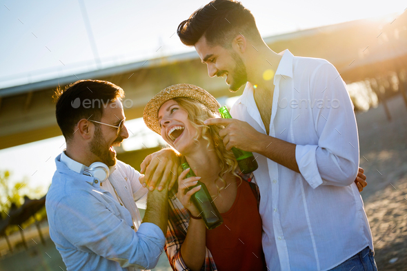 Group of Friends Having a Party - Stock Photo - Images