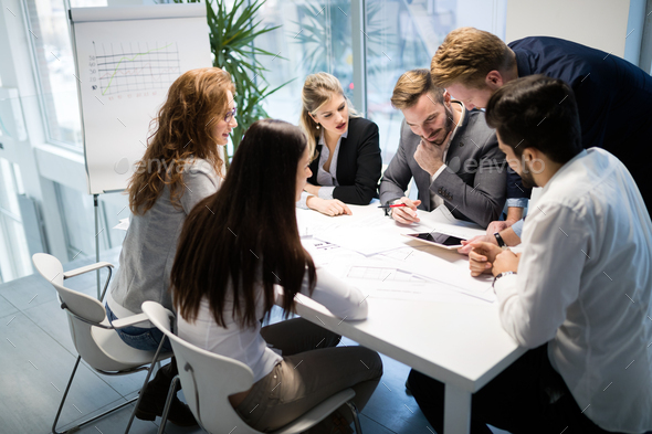 Business meeting and teamwork by business people - Stock Photo - Images