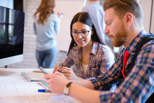 Startup Teamwork Brainstorming Meeting concept in office - Stock Photo - Images
