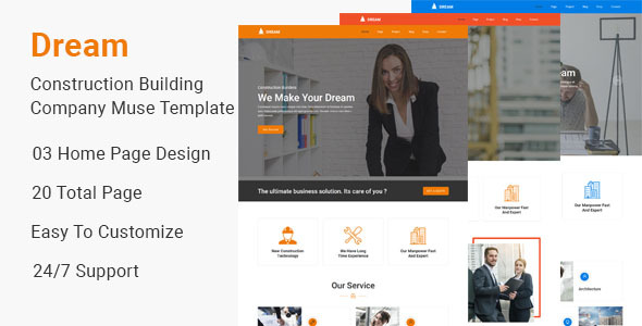 Dream-Construction Building Company Muse Template