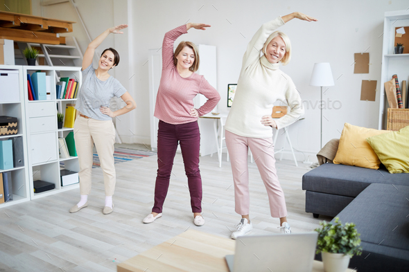 Women Exercising at Home - Stock Photo - Images