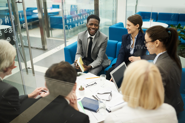 Multi-ethnic Group Discussion - Stock Photo - Images