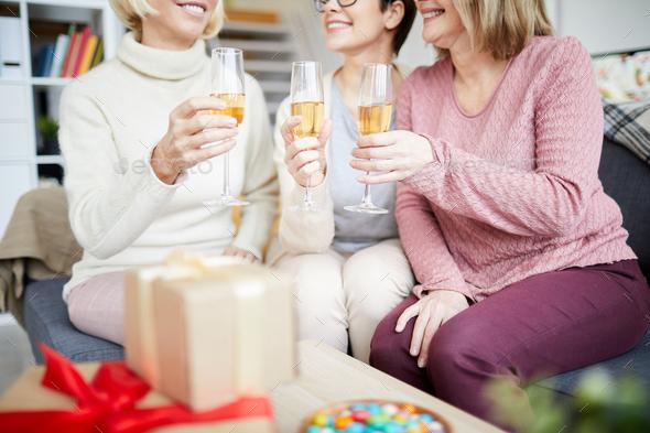 Women Celebrating Holiday - Stock Photo - Images