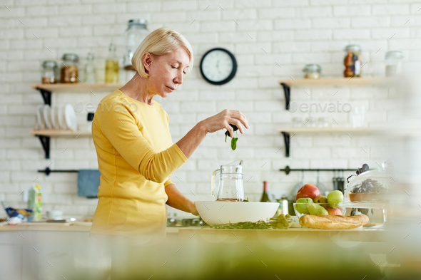 Making healthy salad - Stock Photo - Images