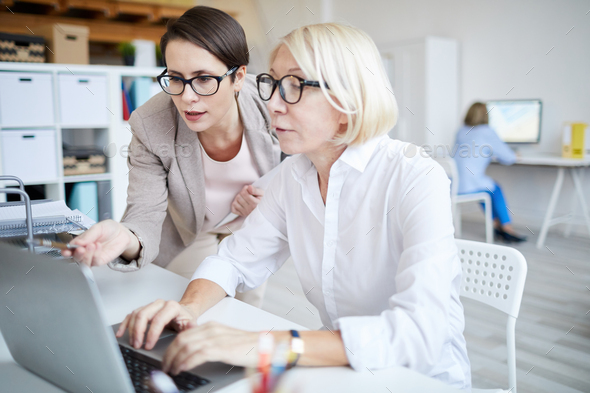 Two Modern Businesswomen Working - Stock Photo - Images