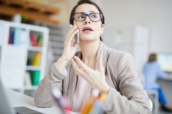 Stressed Day at Work - Stock Photo - Images