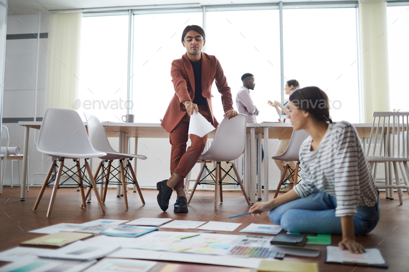 Planning Project on Floor - Stock Photo - Images