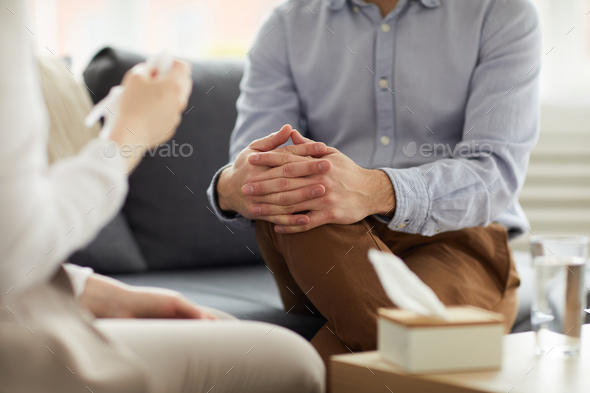 Discussion on couch - Stock Photo - Images