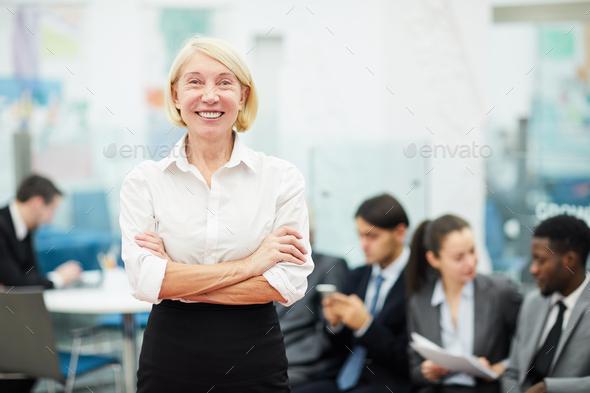 Mature Businesswoman Posing - Stock Photo - Images