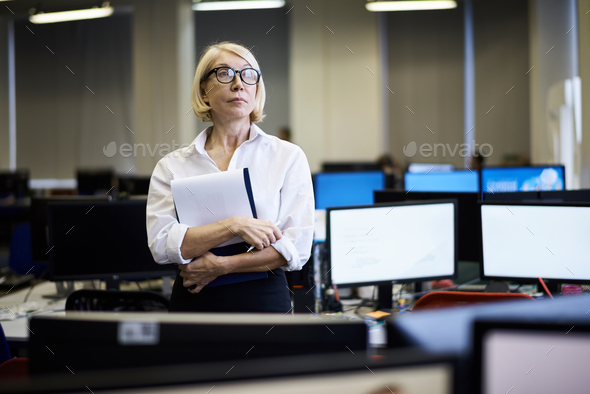 Mature Business Manager in Office - Stock Photo - Images