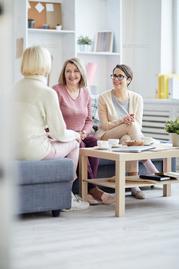 Cheerful Women Chatting - Stock Photo - Images