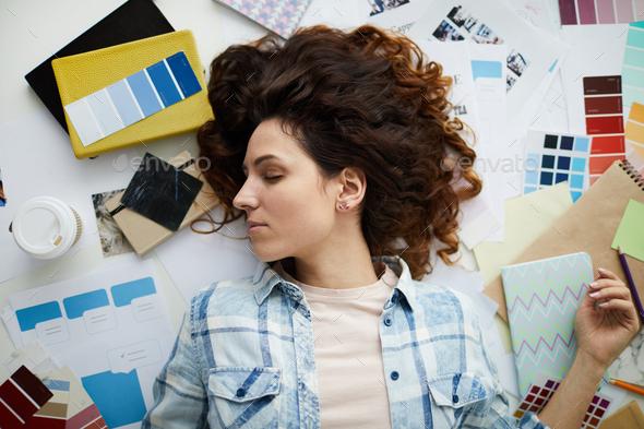 Tired Designer - Stock Photo - Images