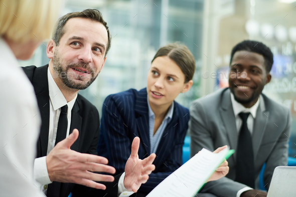 Bsiness People Meeting in Office - Stock Photo - Images