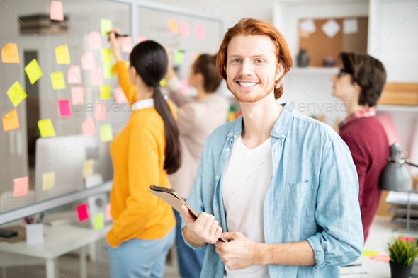Manager with notepad - Stock Photo - Images