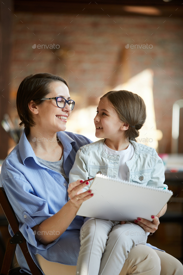 Portrait of Happy Mother - Stock Photo - Images