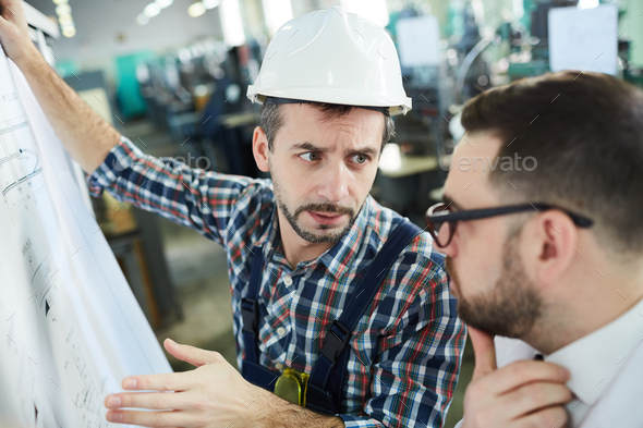Two Engineers at Plant - Stock Photo - Images