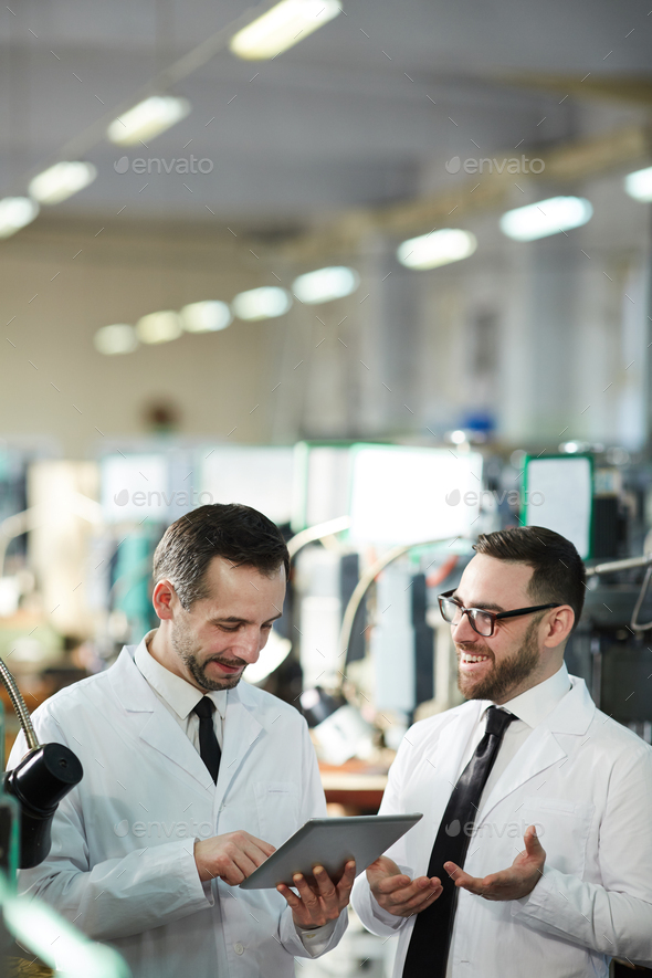 Workers at Modern Production Factory - Stock Photo - Images
