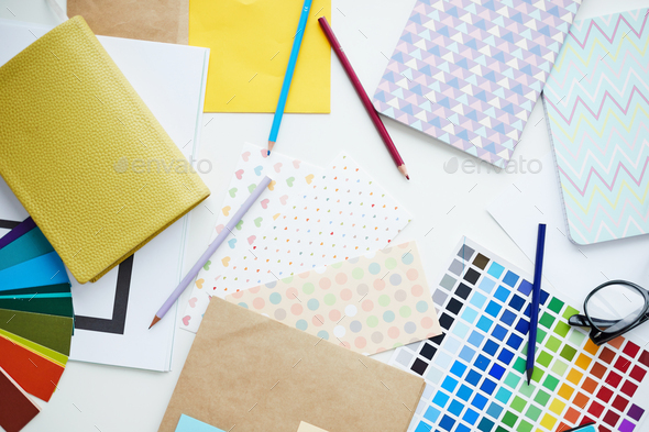Cute Office Supplies - Stock Photo - Images