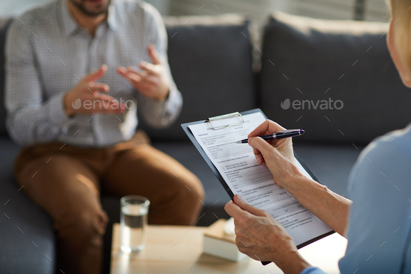 Filling in document - Stock Photo - Images