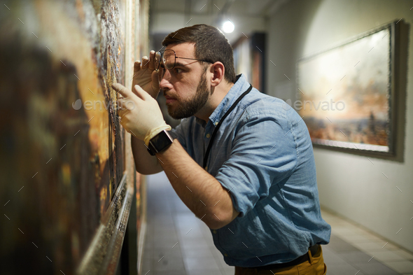 Painting Conservator - Stock Photo - Images