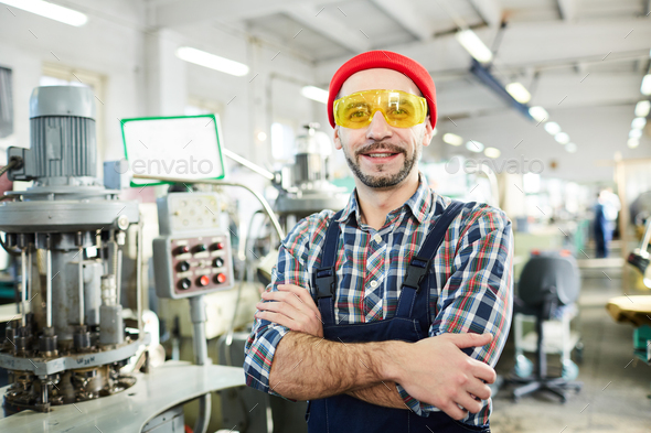 Mature Worker Smiling at Camera - Stock Photo - Images
