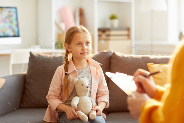Little Girl in Therapy Session - Stock Photo - Images