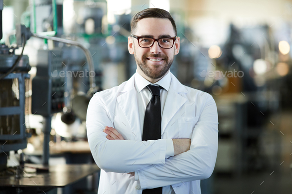 Handsome Factory Manager Posing - Stock Photo - Images