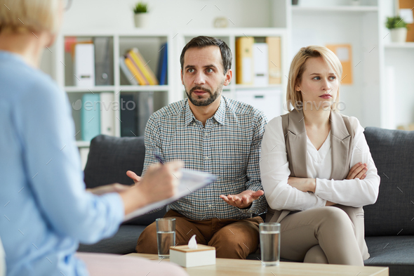 Solving family problem - Stock Photo - Images