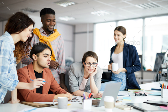 Contemporary Business Team at Work - Stock Photo - Images