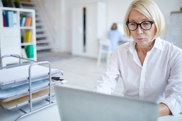Mature Female Manager - Stock Photo - Images