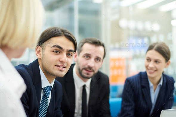 Middle-Eastern Young Man in Meeting - Stock Photo - Images