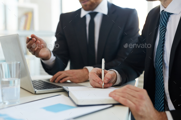 Making notes during presentation - Stock Photo - Images