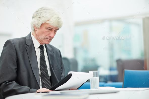 Senior Businessman Working - Stock Photo - Images